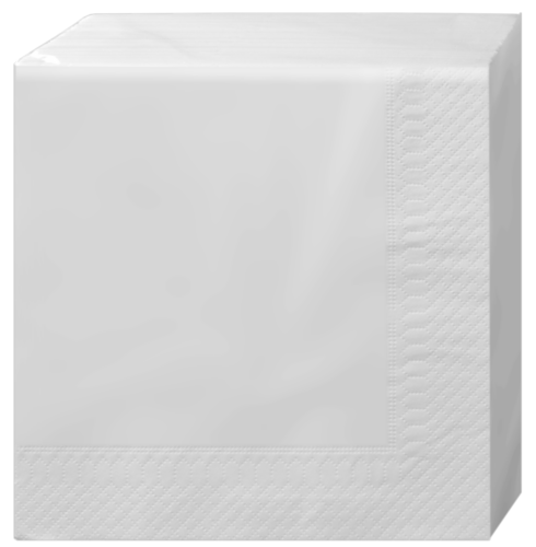 2-ply, white, 100 pcs